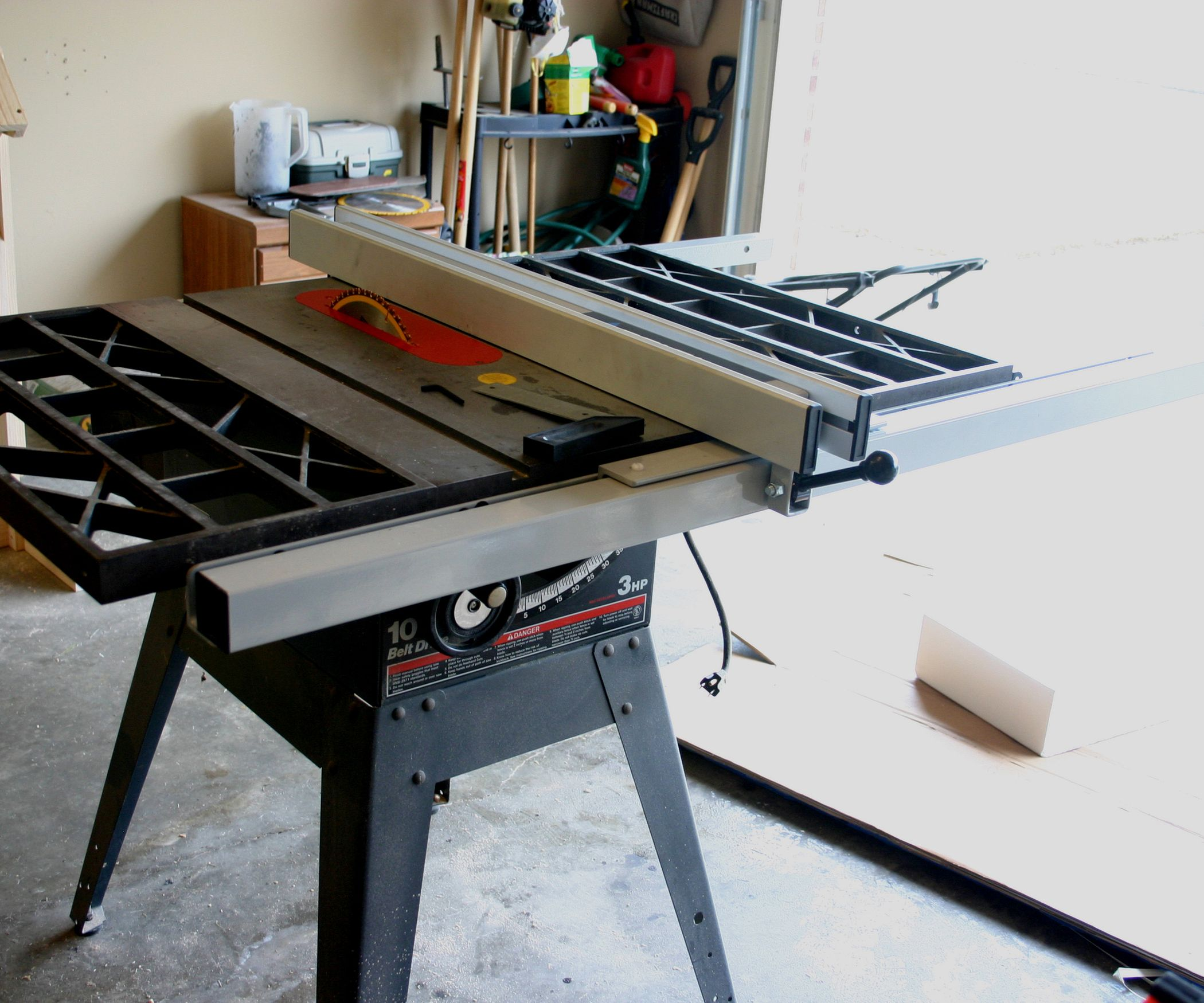 Mesa Para Ingletadora Retrofitting A Delta T2 Fence To A Craftsman Table Saw