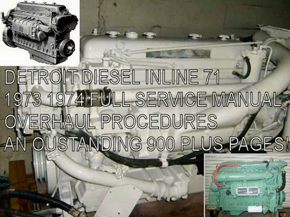 details about detroit diesel inline series 71 service manual details about detroit diesel inline series 71 service manual diesel engine truck bus pdf cd