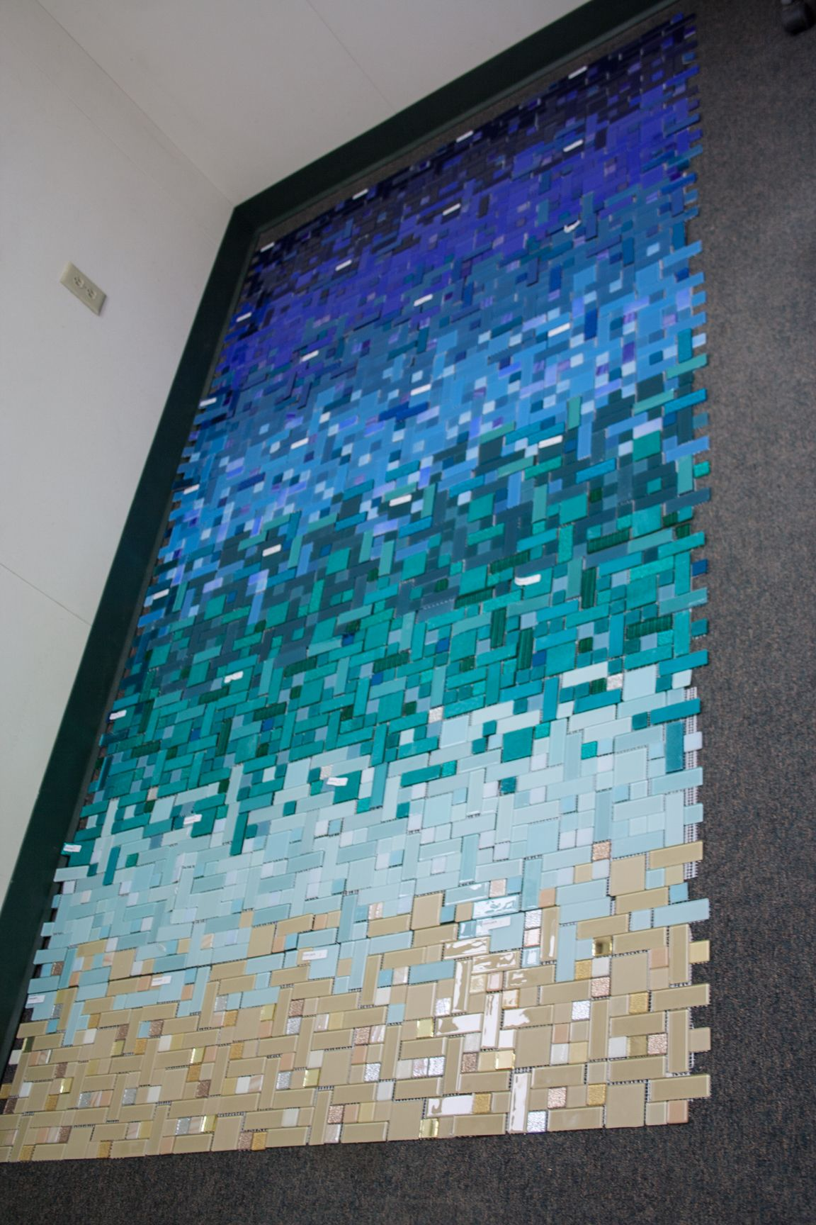 Laying out out #caribbean #tile gradient before we are ready to ship ...