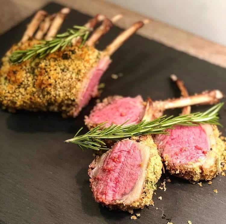 Sous Vide Herb Crusted Rack Of Lamb Recipe In 2020 Crusted