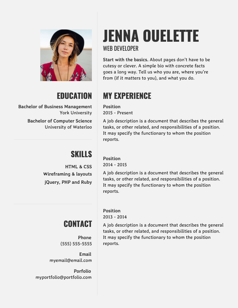Modern Simple Resume in 2020 Teacher resume template