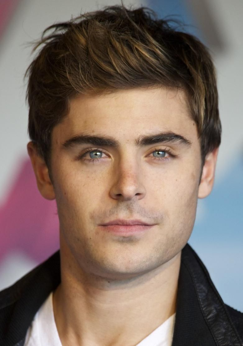 Haircuts for round faces men zac efron uc  celebrities  pinterest  zac efron