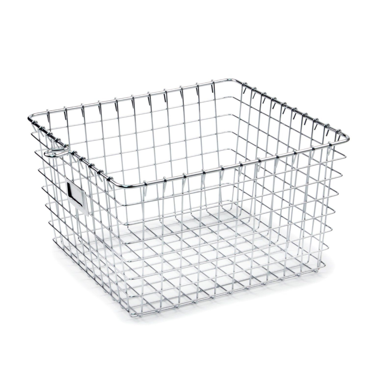 Spectrum Diversified Metal Storage Basket   Chrome   Size: Medium   Check  Back Soon