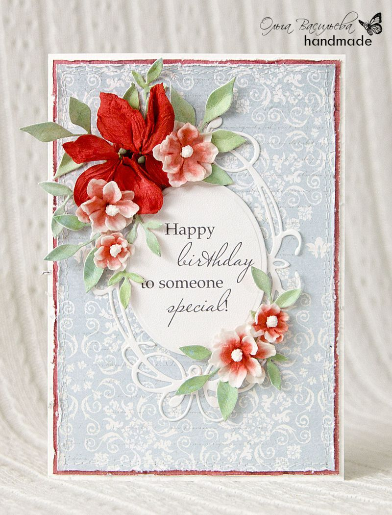Lovely card from the memory box dt using fresh foliage findlay card vintage flower leaves memory box fresh foliage findlay frame fancy blossoms tiffany frame dies and brioche paper collection izmirmasajfo