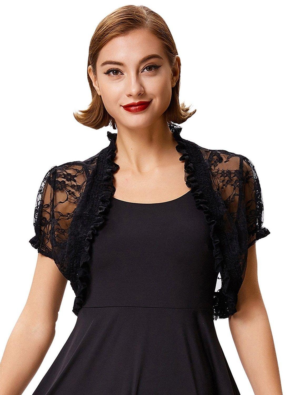 Women S Lace Open Front Cropped Bolero Shrug Cardigan Bp478 Black Ck1802dxk7d Shrug For Dresses Shrug Cardigan Dresses [ 1500 x 1159 Pixel ]