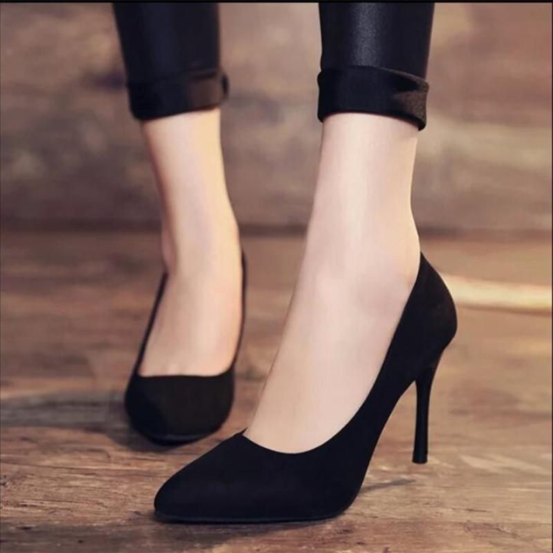 b85d3504fc3e A comfortable and beautiful heel all in one! The look of this suede heel  will go with just about any outfit and any occasion. Heading to a nice  evening out