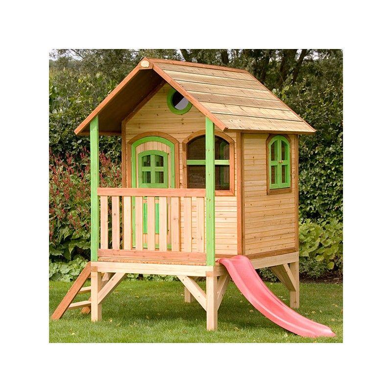 Casita de madera momo casas de madera para ni os for Casa infantil jardin