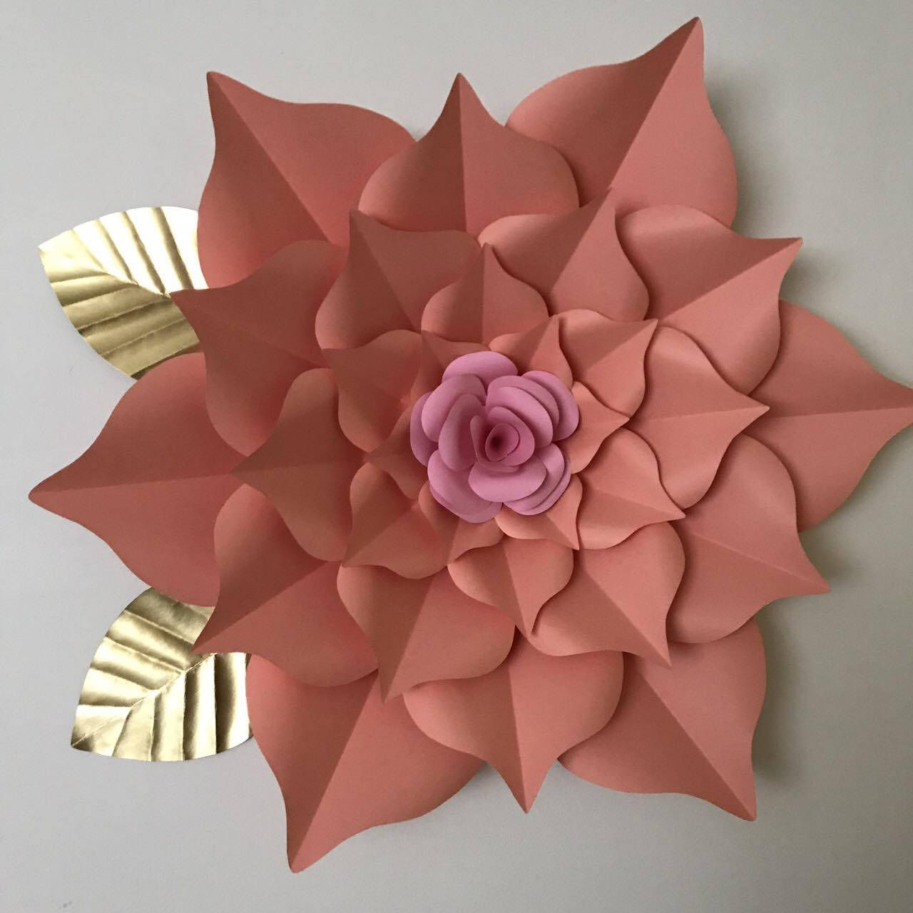 Pdf Giant 40 Inch Flower The Rosa Mystica Paper Flower Template