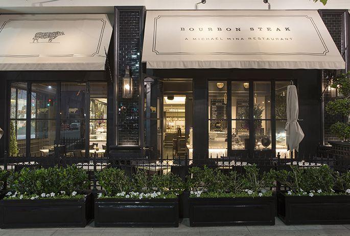 Bourbon Steak Los Angeles Avroko A Design And Concept Firm Restaurant Exterior Storefront Design Restaurant Patio