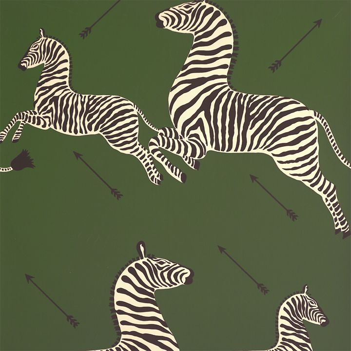 Scalamandre Zebras Wallpaper Seregenti Green