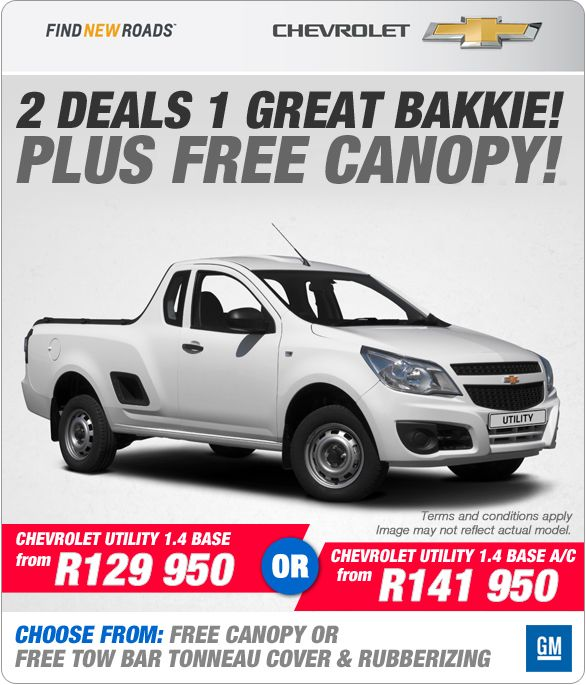 New Chevrolet Utility 1 4 Base Plus Free Canopy From R129 950