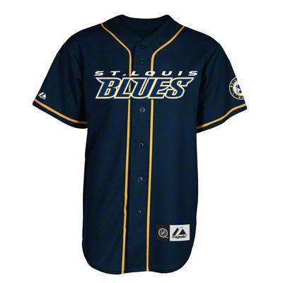 d1868e1593c St. Louis Blues Jersey  Navy NHL Replica Baseball Jersey
