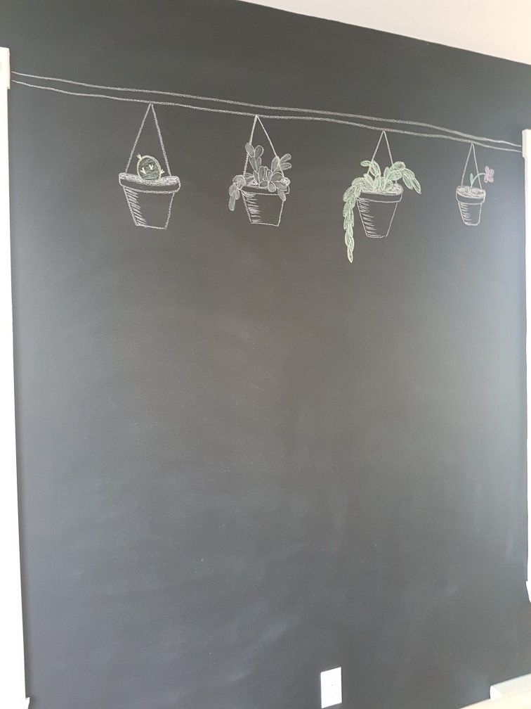 Tableau De Salle à Mangé Tableau Noir Avec Craie Thème