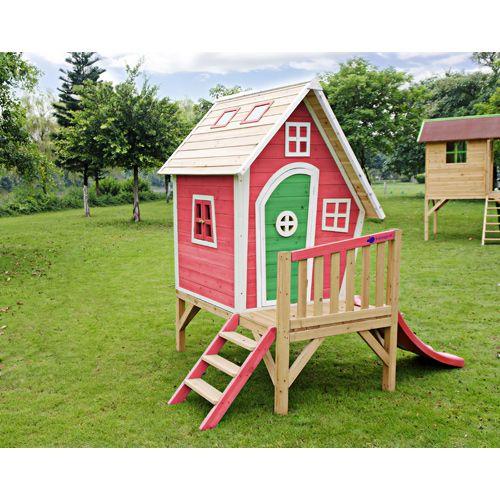 Casita de juegos jardín de madera, casas y casitas para niños ...