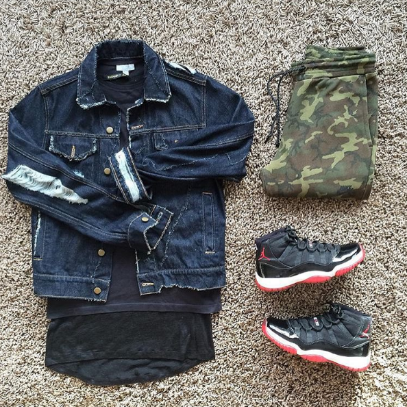 #divinclo #denim #jacket #cos #balmain #tshirt #nike #techpack #fleece #airjordan #bred11s