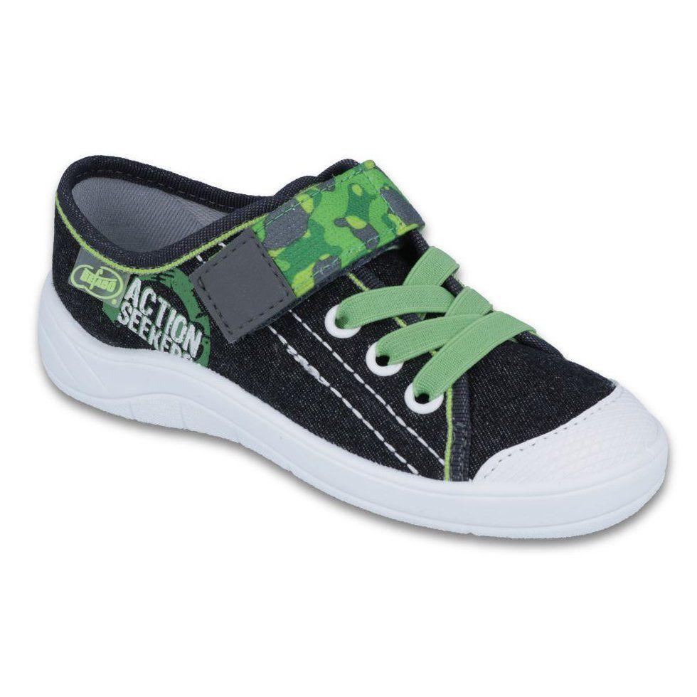 Befado Obuwie Dzieciece 251y102 Czarne Zielone Childrens Shoes Boys Shoes Sneaker Slippers