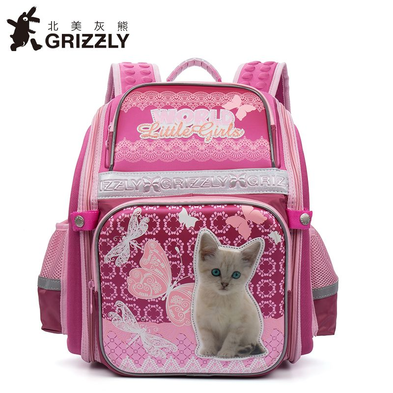 GRIZZLY 2017 NEW Russia Kids Backpack Cute Cartoon School Bags Orthopedic  Waterproof Children Primary School for f0acc20489ffd