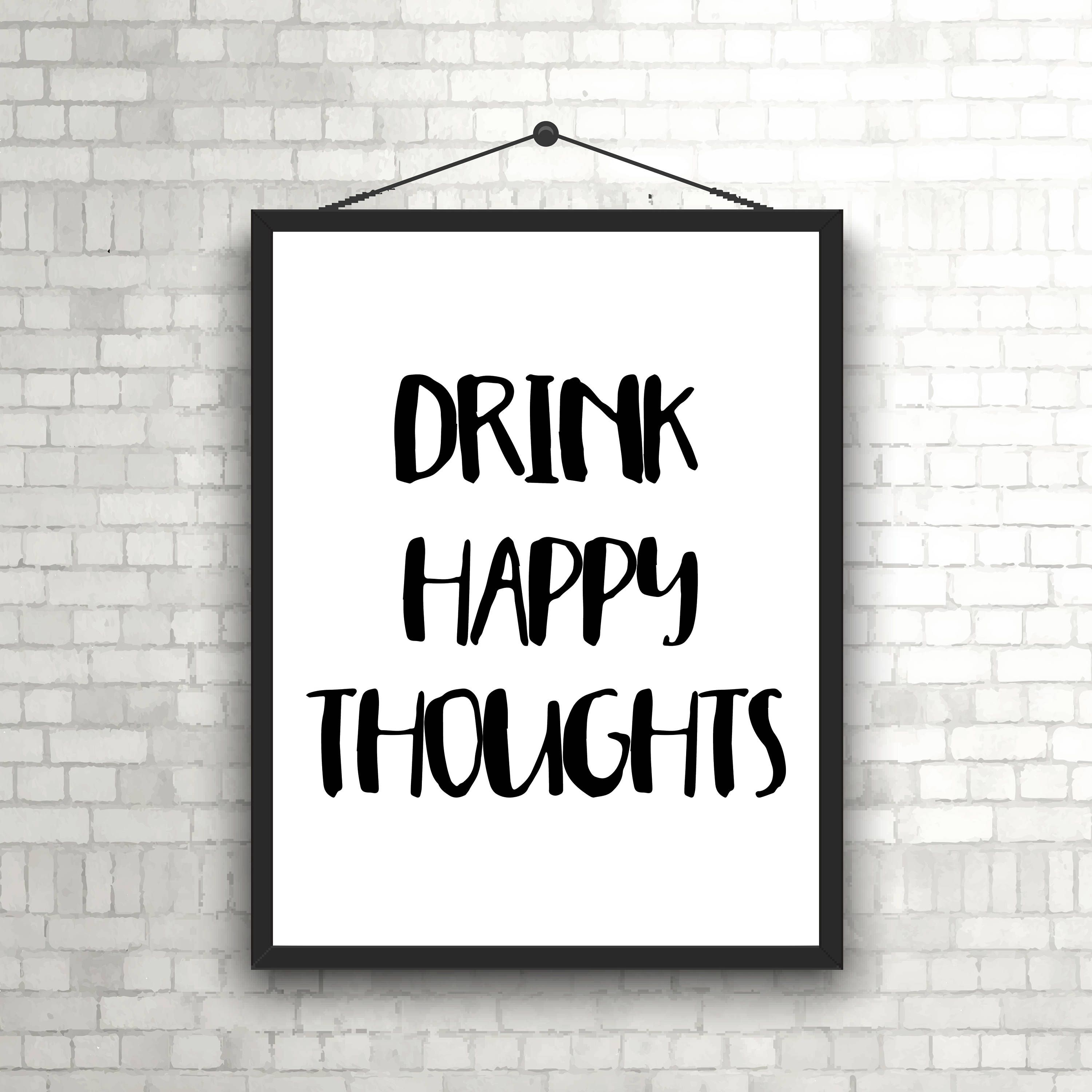alcohol print kitchen art drinking quote alcohol quote funny