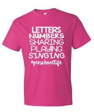 6703db993 Teacher Shirts, Preschool Life Teacher T-Shirt, Teacher Life T-Shirt ...