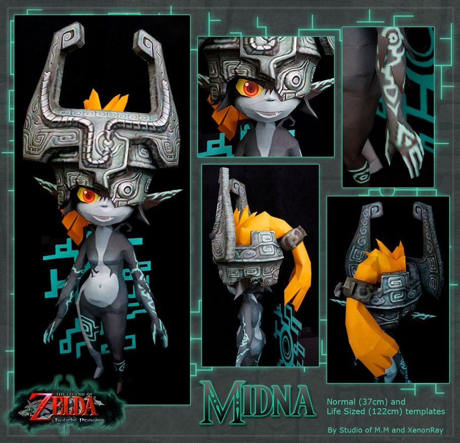 this papercraft is a imp form midna a character from the legend of zelda twilight princess the paper model was created by xenonray