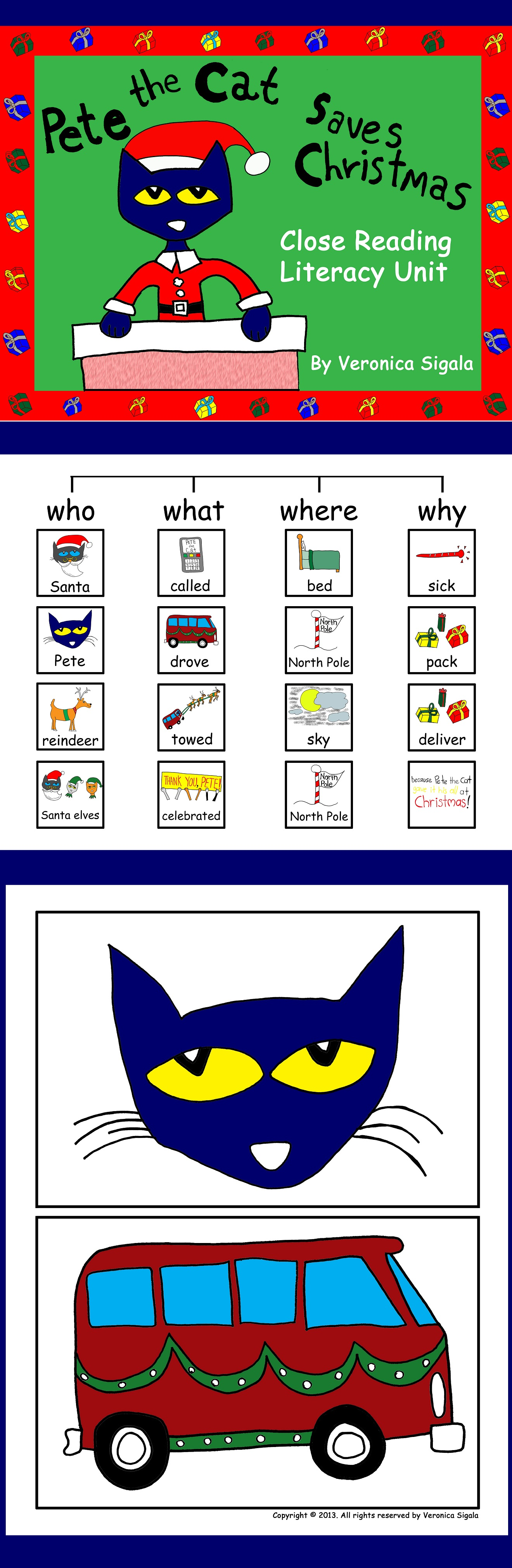 Pete The Cat Saves Christmas Close Reading Is Careful And
