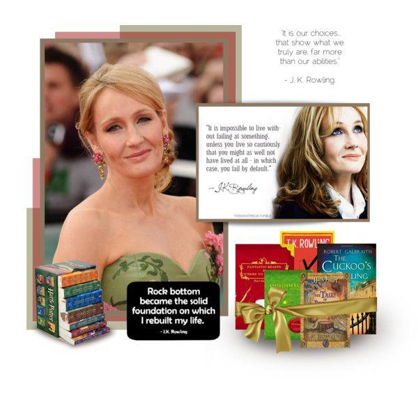 """J.K. Rowling - International Women's Day"" by dutchsparky on Polyvore"