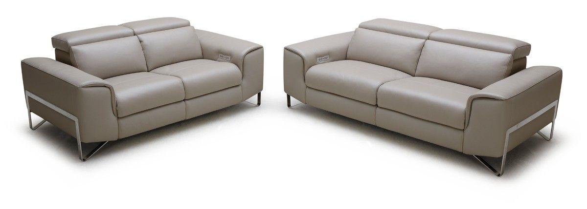 Endearing Modern Reclining Sofa With Casa Begonia Modern Taupe Italian  Leather Reclining Sofa Set