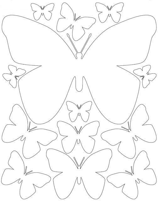Шаблоны бабочками как сделать 40
