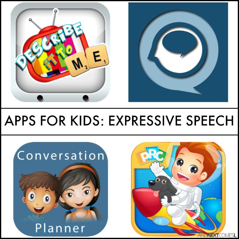 Speech Apps for Kids to Work on Expressive Language