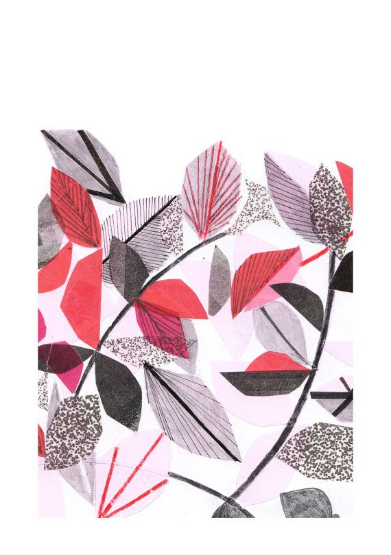 Wild Red Leaves - Limited edition