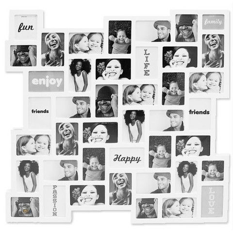Zig Zag Photo Frame White Collage Frame Multi Photos Frame