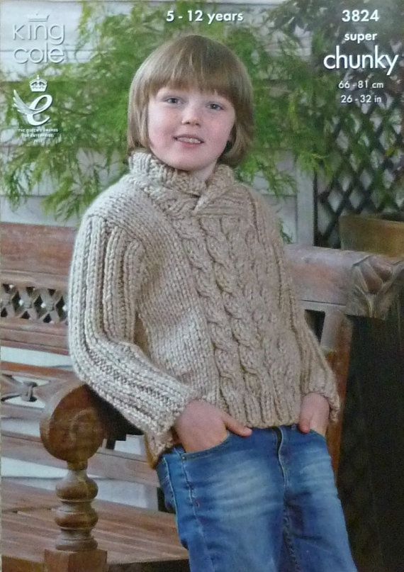 536be3663 Boys Knitting Pattern K3824 Children s Long Sleeve Roll Neck Cable ...