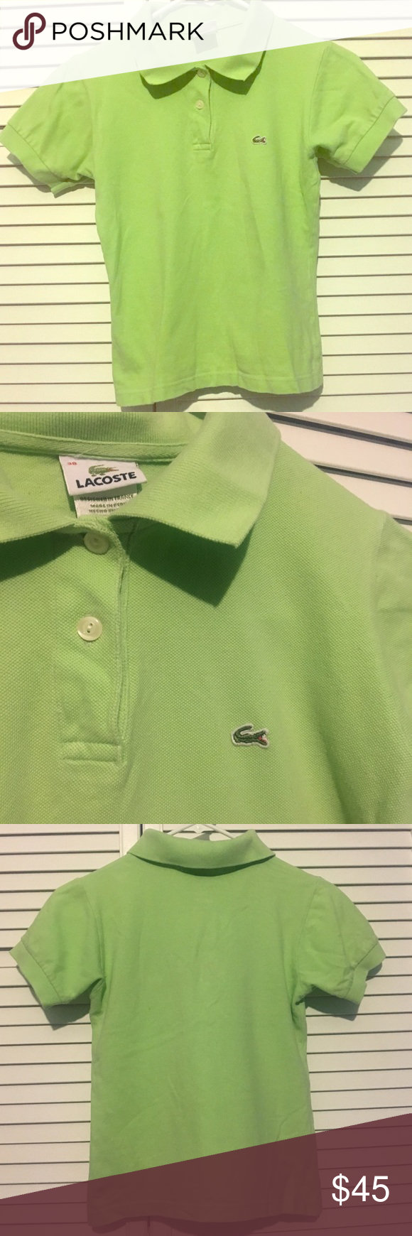 Girl Junior Shirt Lacoste Junior Shirts Green Polo Shirts Lacoste