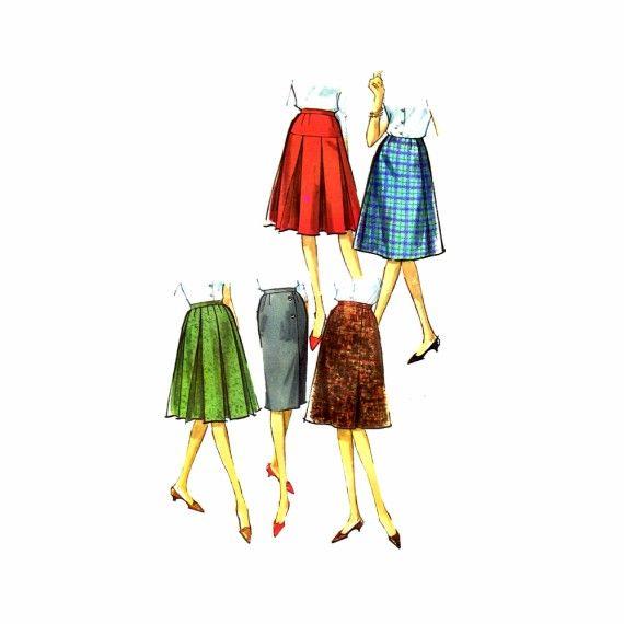 1960s Five Skirt Wardrobe Simplicity 5627 Vintage Sewing Pattern