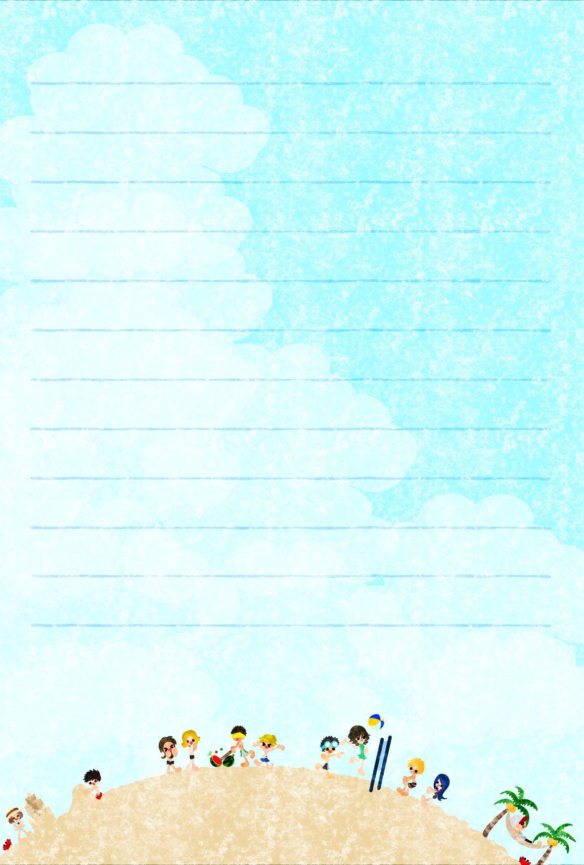 Atelier B W そのまま印刷できて 暑中見舞いにも使えるフリーのイラスト素材 夏のポストカード Free ポスト