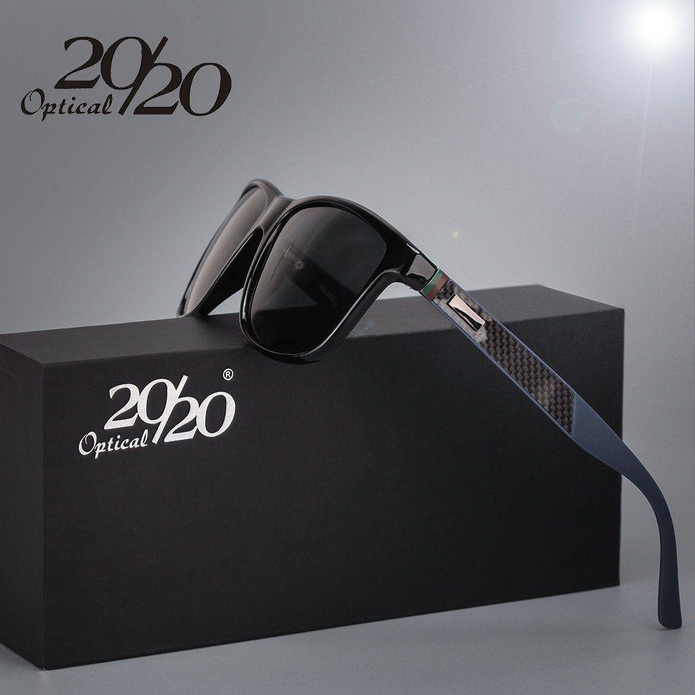 20/20 Brand Classic Polarized sunglasses Men Driving Square Black ...