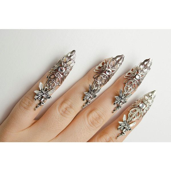 Fairy nail claw rings set of 5 (2010 RSD) liked on ...