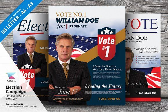 election campaign flyers and posters by kinzi21 on creativemarket