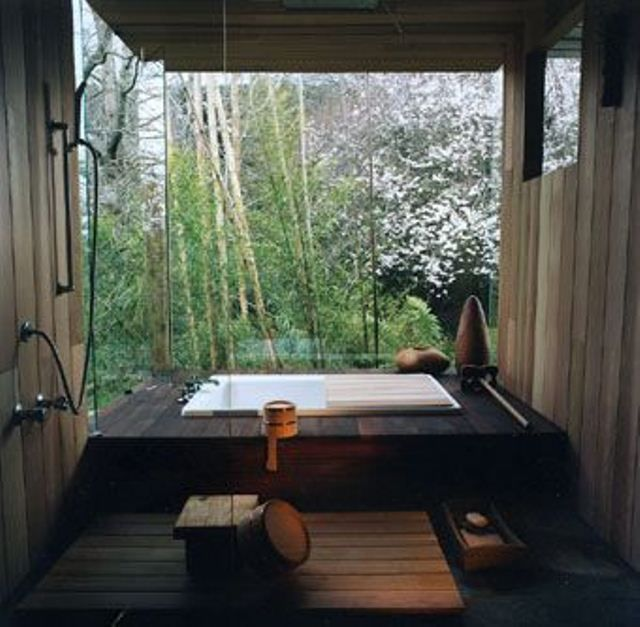 Japanese Bath:  A deep bath. A beautiful view. Say no more.