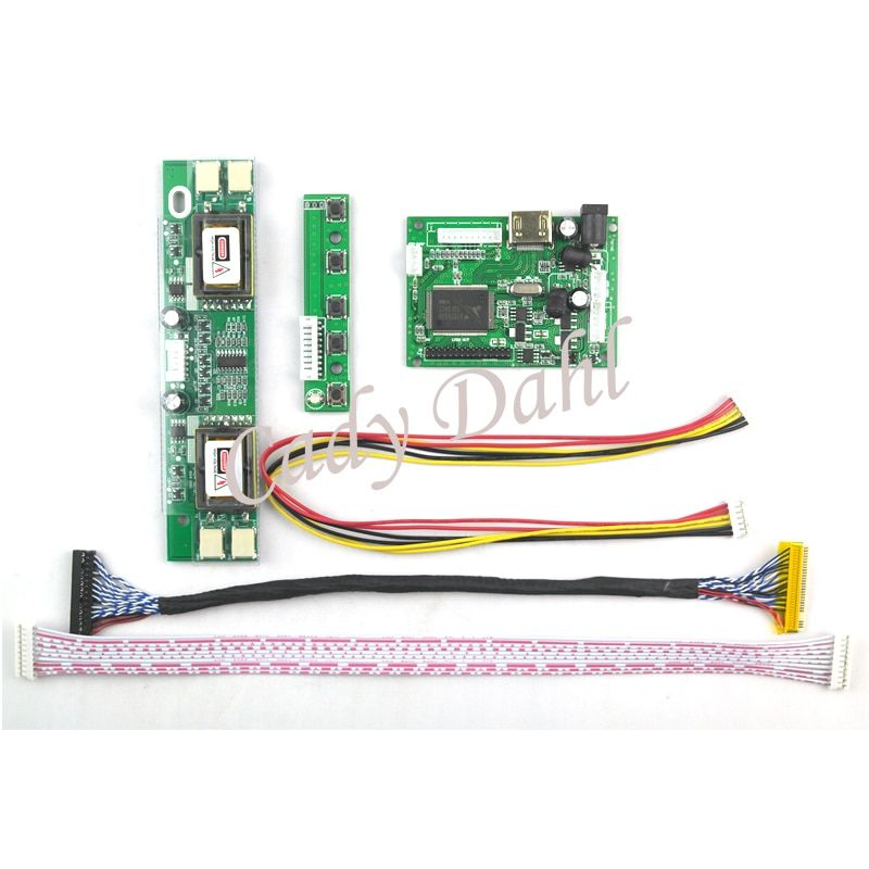 HDMI LCD Controller Board Module + 4 CCFL + LVDS Cable for