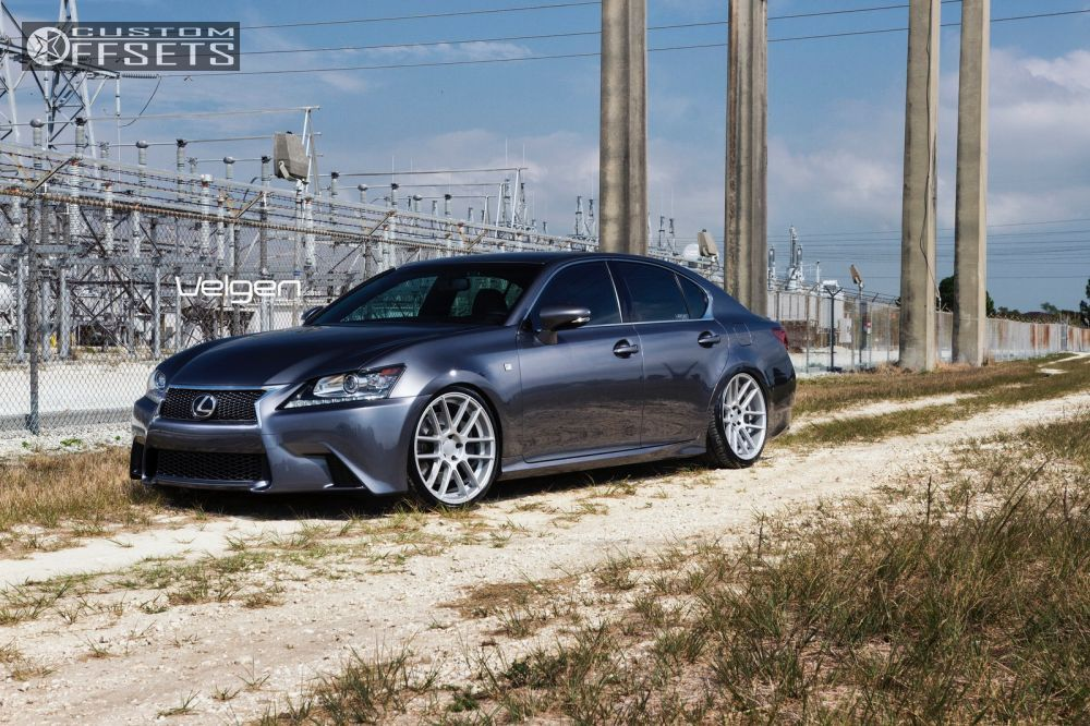 756 2 2014 gs350 lexus dropped 1 3 velgen wheels vmb6 silver flush