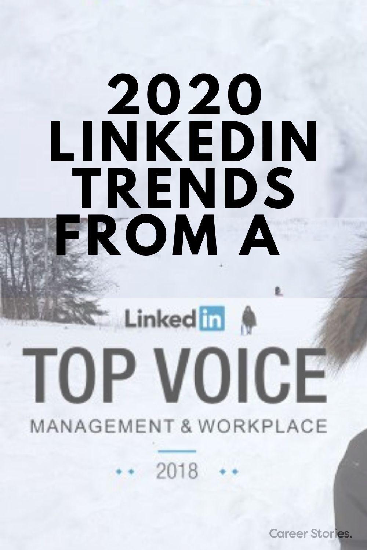 2020 LinkedIn Trends Career Stories in 2020 Resume