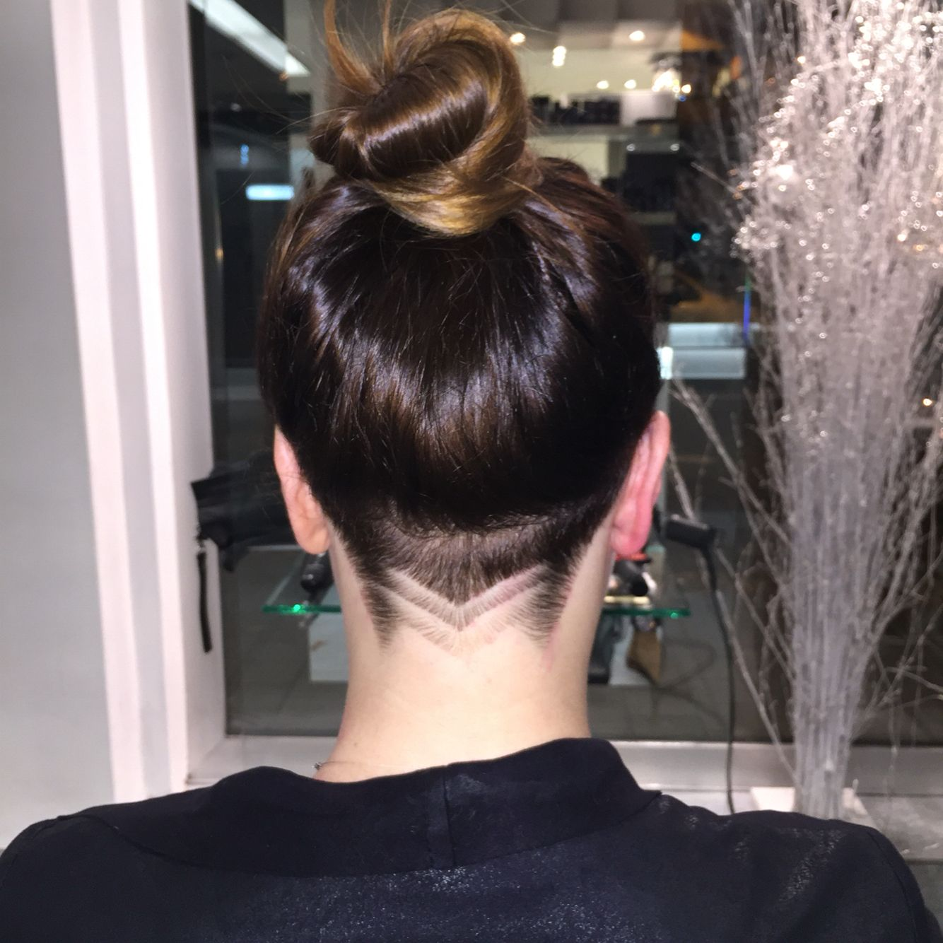 long hair with undercut and simple