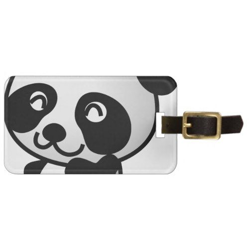 Cute little panda luggage tag