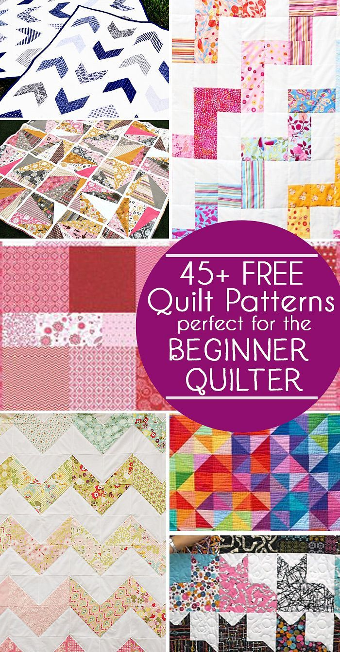 45 Free Easy Quilt Patterns – Perfect for Beginners | DIY SEWING ...