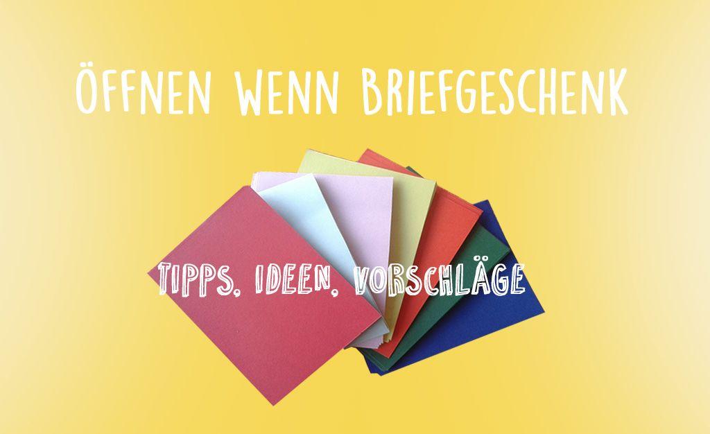 Öffnen wenn Briefe schreiben und an Freunde verschenken. 50 Tipps ...