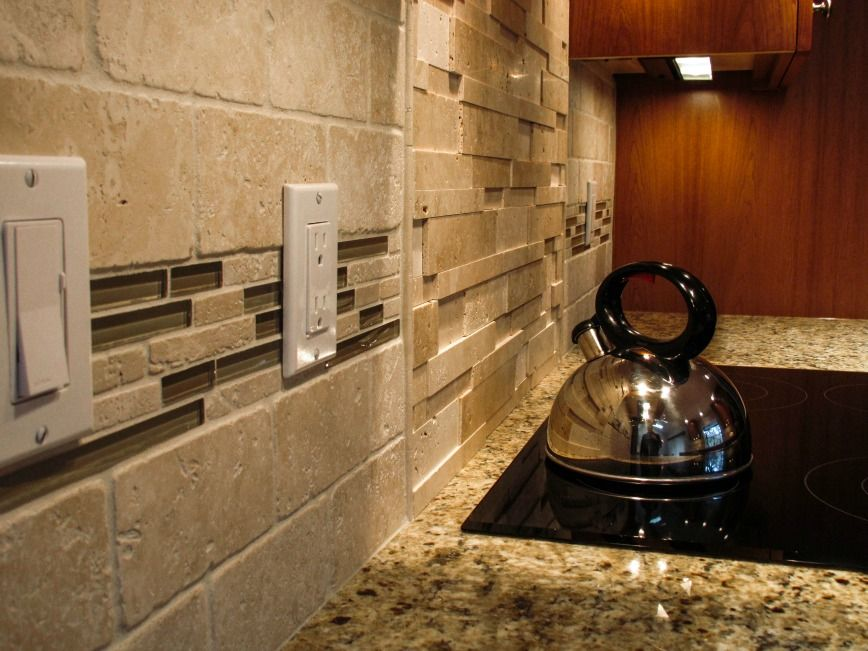 Medium image of kitchen backsplash with glass tile accents   http   modtopiastudio com  kitchen