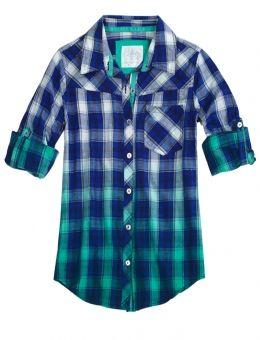 Dip Dye Plaid Shirt Chemises De Justice, Vêtements De Justice, Trucs De  Justice, a54a18b61392