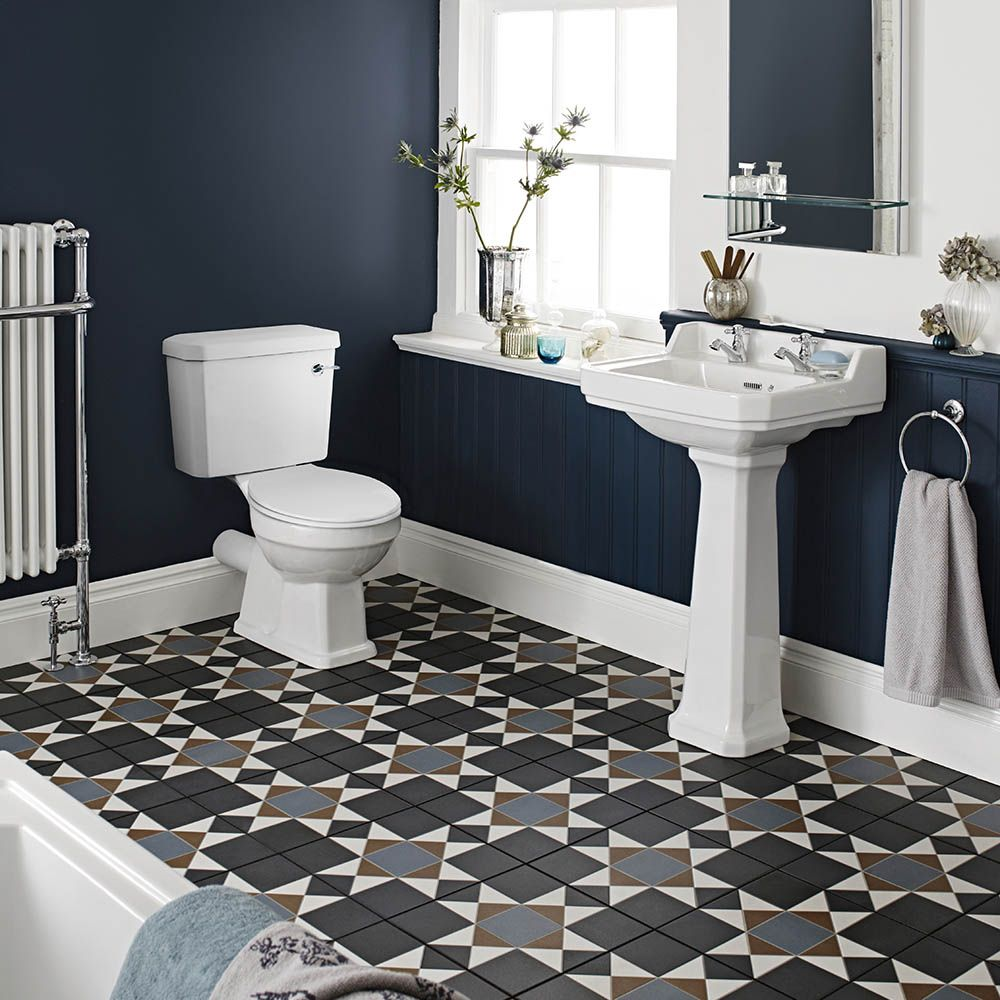 Nuie Carlton 4-Piece Traditional 2TH Bathroom Suite ...