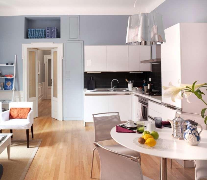 Cucine ad angolo - Cucina ad angolo piccola tutta bianca | Cucine ...